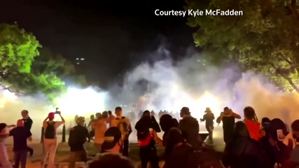 Tear gas, fires outside White House