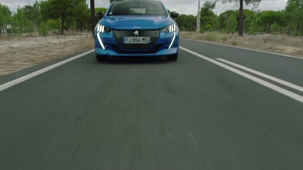 The new Peugeot 208 GT Line in Vertigo Blue Driving Video