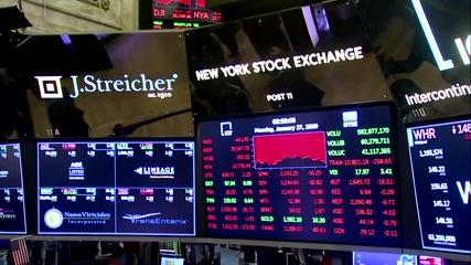 Wall Street slammed on China virus fears