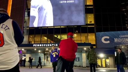 New York's Madison Square Garden lit up in tribute to Kobe Bryant