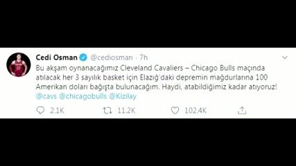 Turkish NBA player Cedi Osman raising money for quake victims