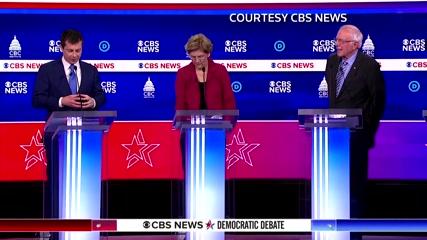 Rivals take aim at Sanders' electability at Democratic debate