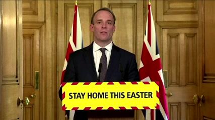 UK's Raab says virus not peaked; too early to lift lockdown