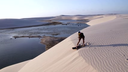 Wakeskaters find paradise in Brazils's 'sea of sand dunes'