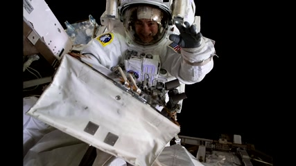 Smiling space selfies mark first ever all-female spacewalk
