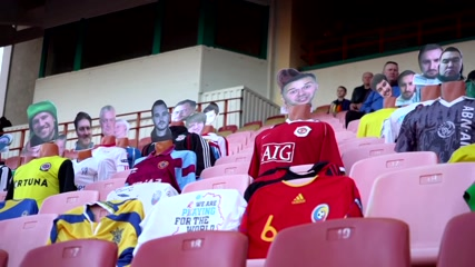 Playing a dummy: Belarus club puts virtual fans in the stands to fight virus